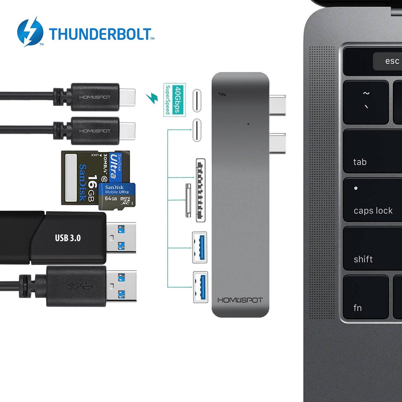 The Smallest USB Type C Mini Adapter by HomeSpot, Convert USB-C to USB-A Female Connector, 56K Resistor, works with Macbook Pro2016 , iPhone, iPad, ChromeBook Pixel, Nexus 5X, Nexus 6P, OnePlus 2 HSUSB20CAB-ADTW