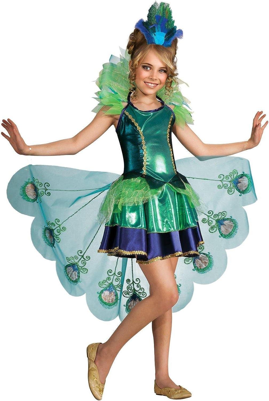 Disfraz de Pavo Real para niña, Grande (12/14): Amazon.es ...