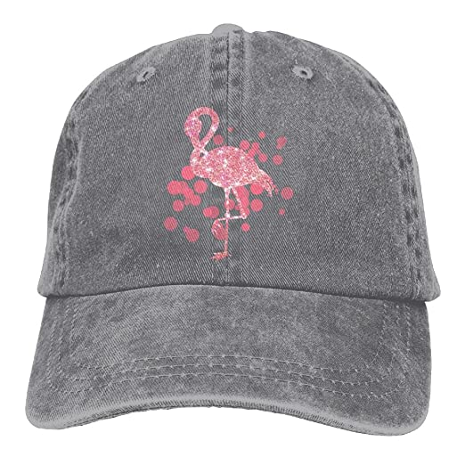 Pink Flamingo Glitter Flamingo Love Classic Unisex Baseball Cap Adjustable  Washed Dyed Cotton Ball Hat Ash a6bcd52ad95