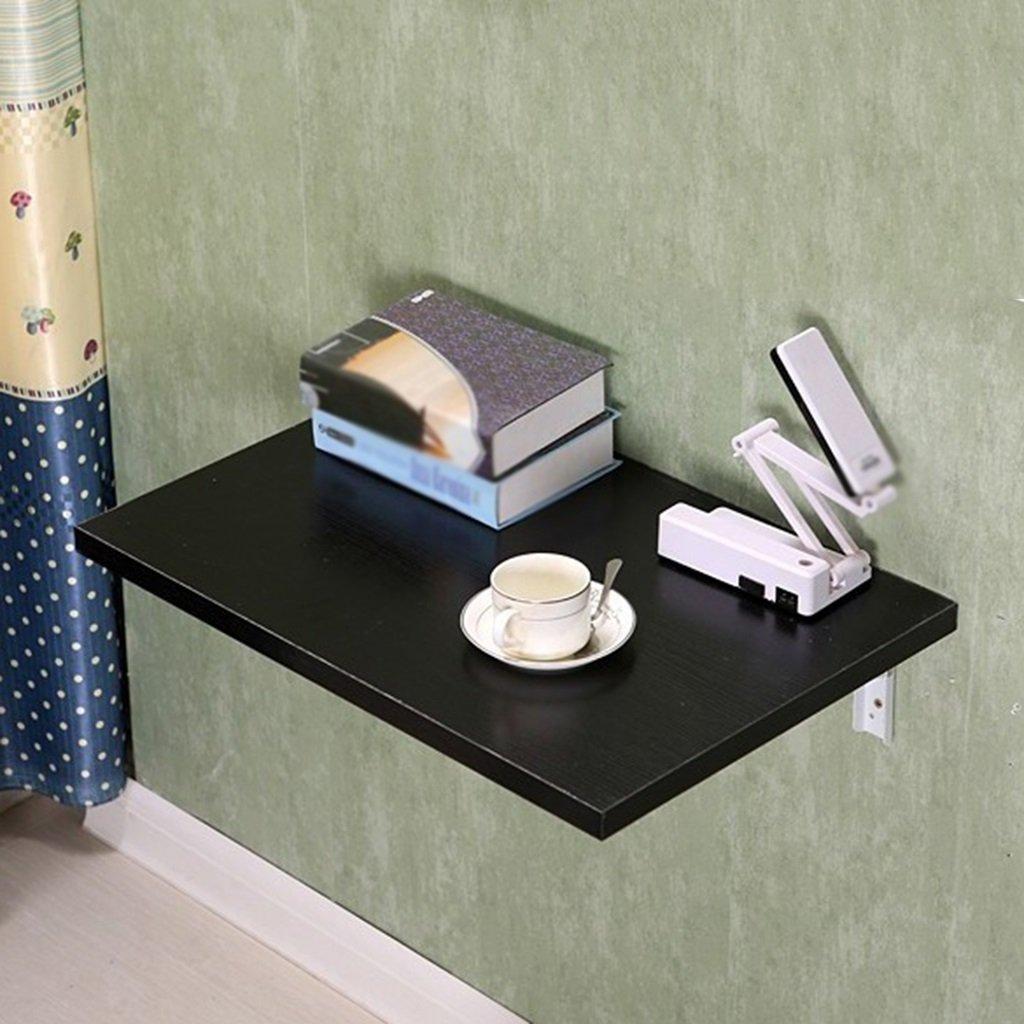 折りたたみテーブル壁テーブル壁掛けコンピュータデスク折りたたみ式ライティングデスク壁掛けキッチンバルコニーテーブルウォールダイニングテーブル、黒、サイズオプション 折畳式の (サイズ さいず : 80*40cm) B07D8TYTP8 80*40cm 80*40cm