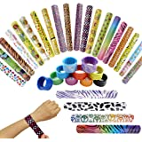 IROCH Slap Bracelet,Slap Bracelets Christmas, Slap Bracelets Party Favors Pack Slap Bands Wrist Strap Christmas Party Wristbands