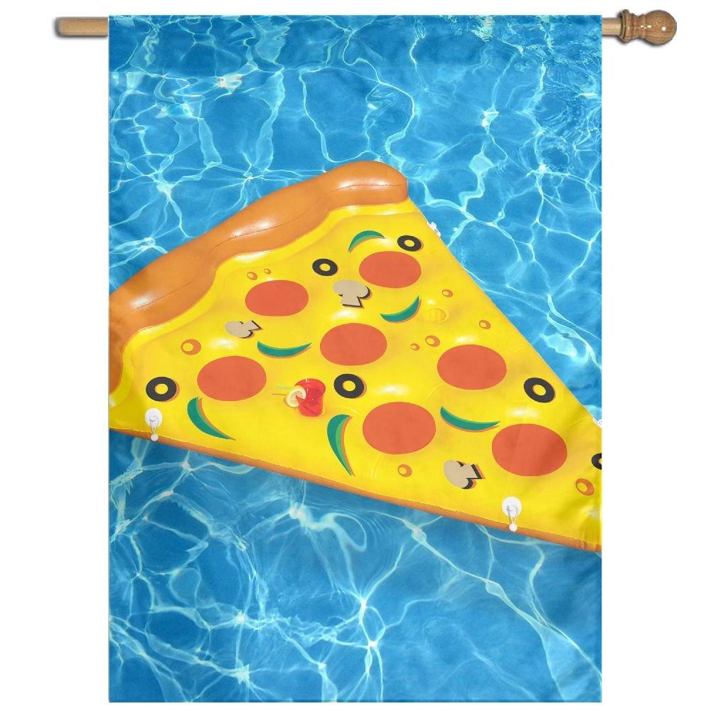 DFGTLY Bandera de jardín de moda para pizza de verano, piscina ...