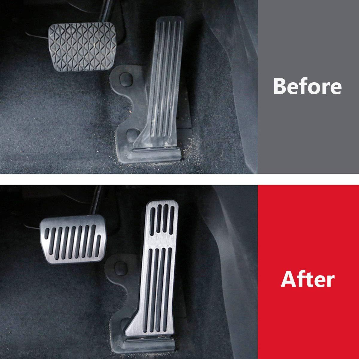 JessicaAlba No Drill Accelerator Brake Gas Pedals Pad Cover Cap Accessories for Mazda 2 3 6 CX-3 CX-5 CX-9