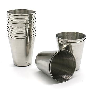 Amazon.com: Huele Juego de 15 piezas acero inoxidable vasos ...