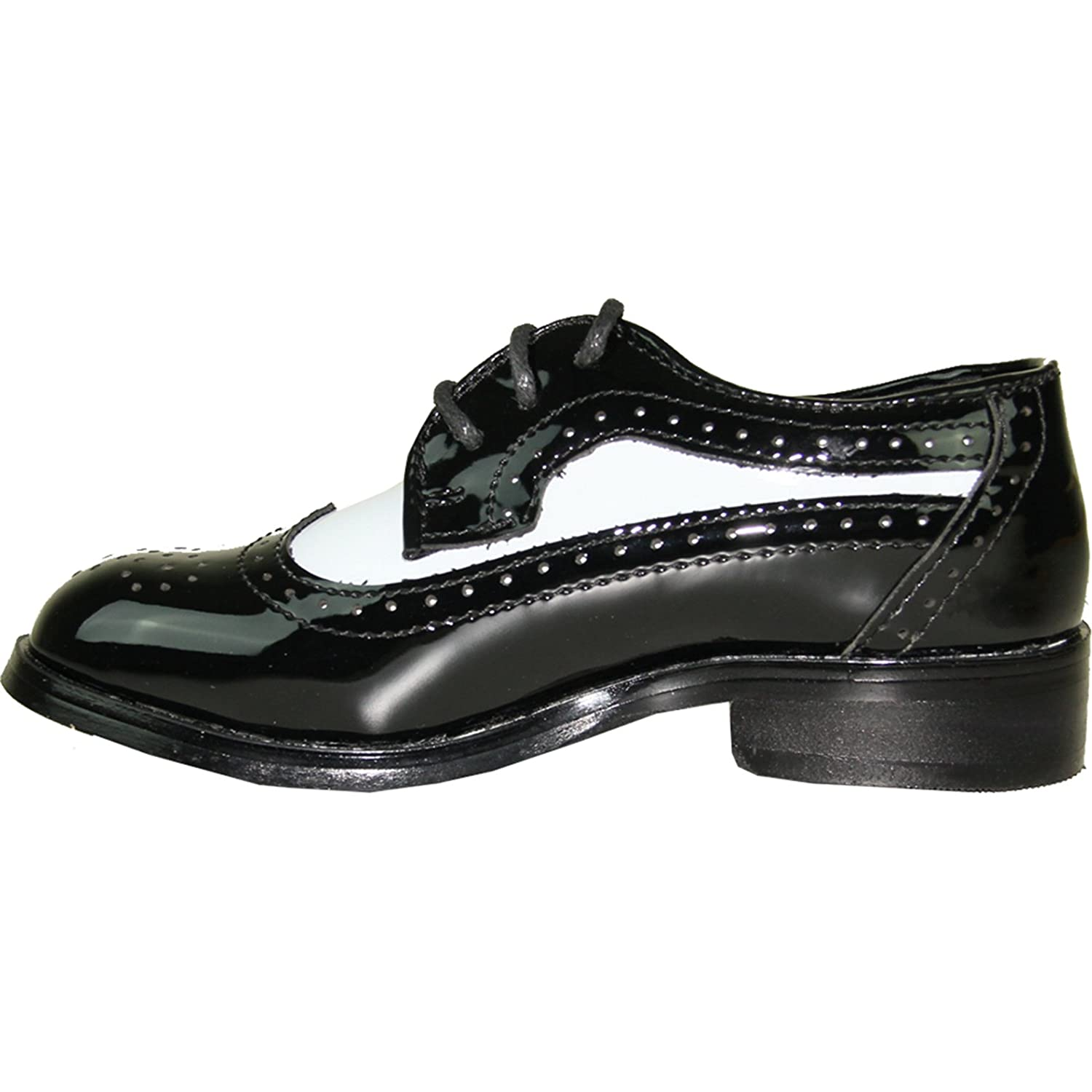 Jean Yves Boy Dress Shoe JY03KID Wing Tip Two-Tone Tuxedo for Wedding Prom and Formal Event