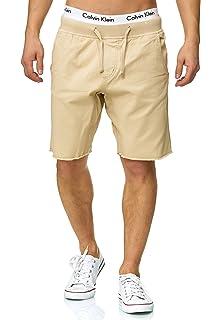 7c2a812adbab07 Indicode Herren Carver Shorts Chino Kurze Hose Destroyed aus Reiner  Baumwolle