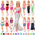 Barwa Lot 20 = 10 Set Fashion Handmade Clothes Outfit Dresses + 10 Pairs Shoes for 11.5 Inch 28 -30 cm Girl Doll Xmas Gift