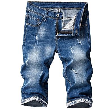 Amazon.com: Shunht - Pantalones cortos vaqueros para hombre ...