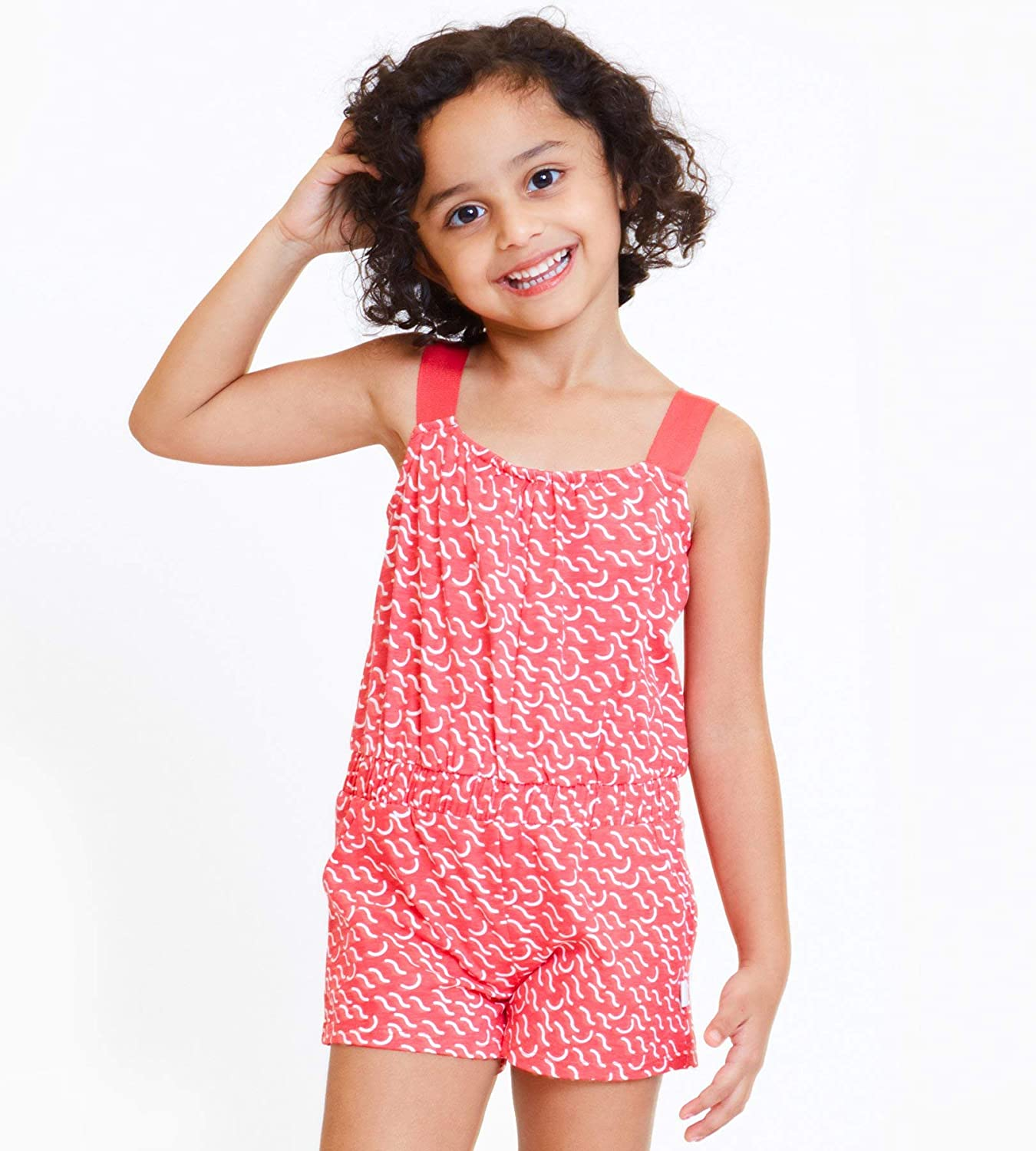 art /& eden Girls Organic Cotton Short Romper//Jumpsuit