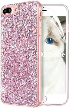 OKZone Funda iPhone 8 Plus,Funda iPhone 7 Plus, Cárcasa Brilla Glitter Brillante TPU Silicona Teléfono Smartphone Funda Móvil Case para Apple iPhone 7 Plus/iPhone 8 Plus 5,5