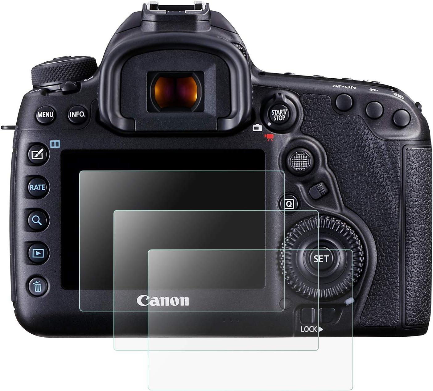 Mwoot 3 St/ück Schutzfolie aus Glas f/ür Canon EOS 5D Mark IV 5D4 5DIV 5DS 5DS-R,9H H/ärte Kratzfest Displayschutzglas