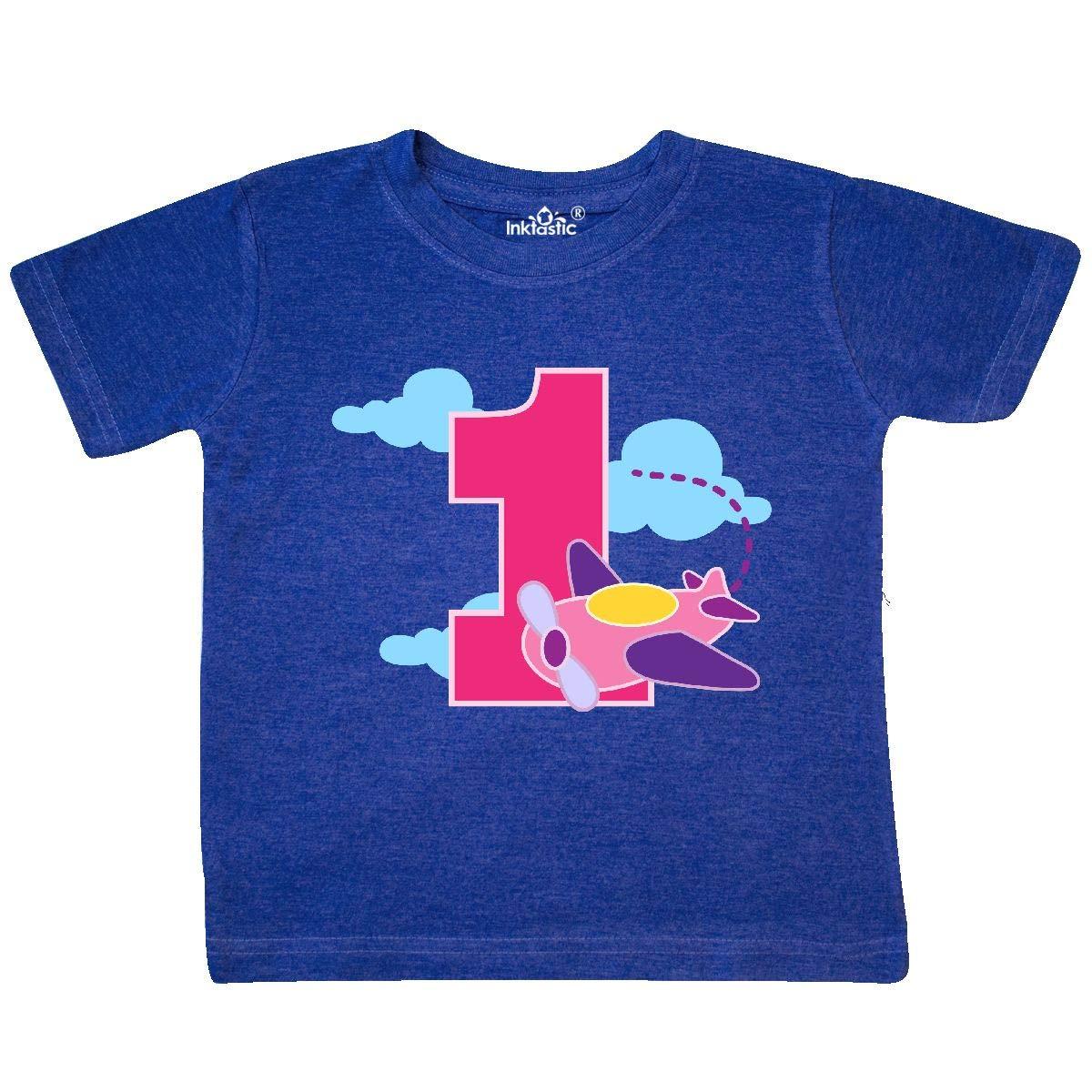 inktastic 1st Birthday Pilot Airplane Toddler T-Shirt