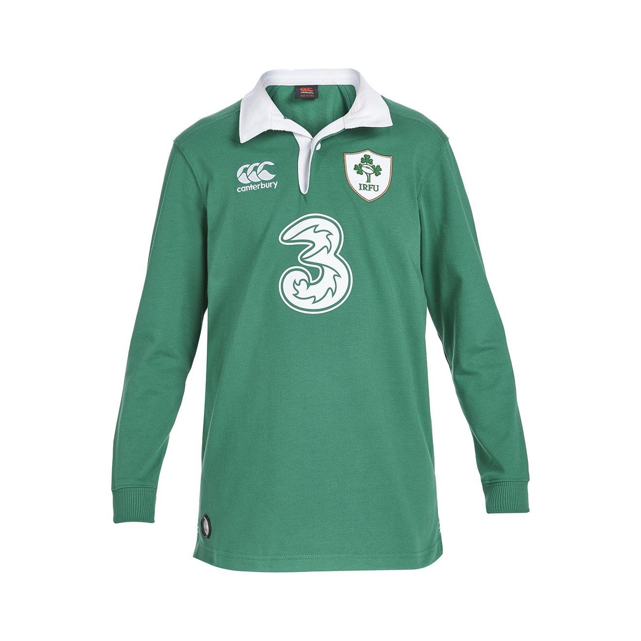 2015-2016 Ireland Home Classic LS Rugby Shirt (Kids) B00ZHVQLHSGreen Large Boys 29-31\