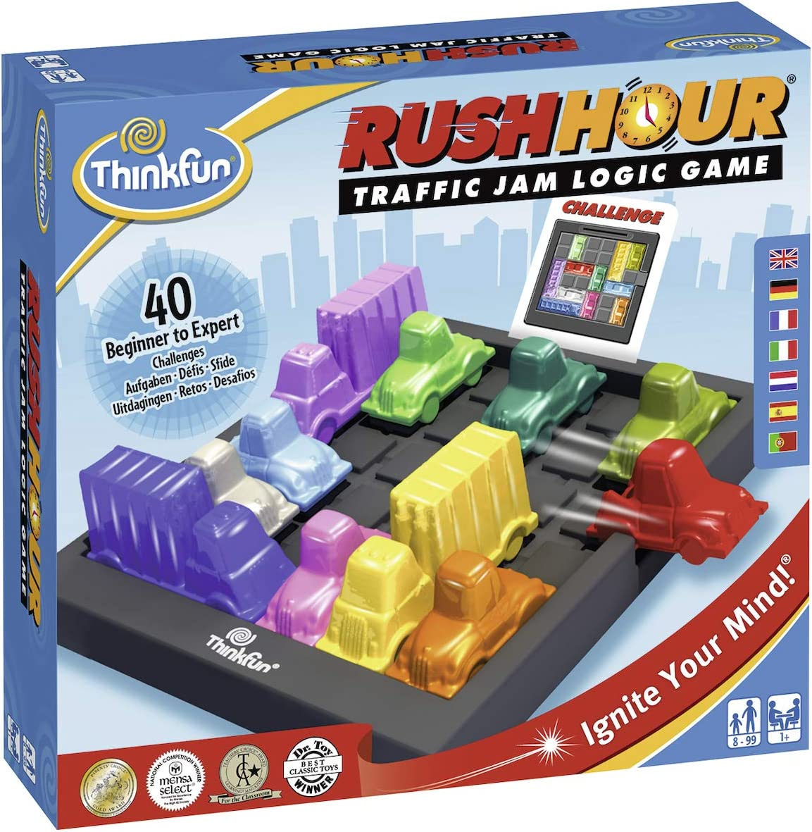 Think Fun- Rush Hour Juego de Habilidad, Multicolor, única ...