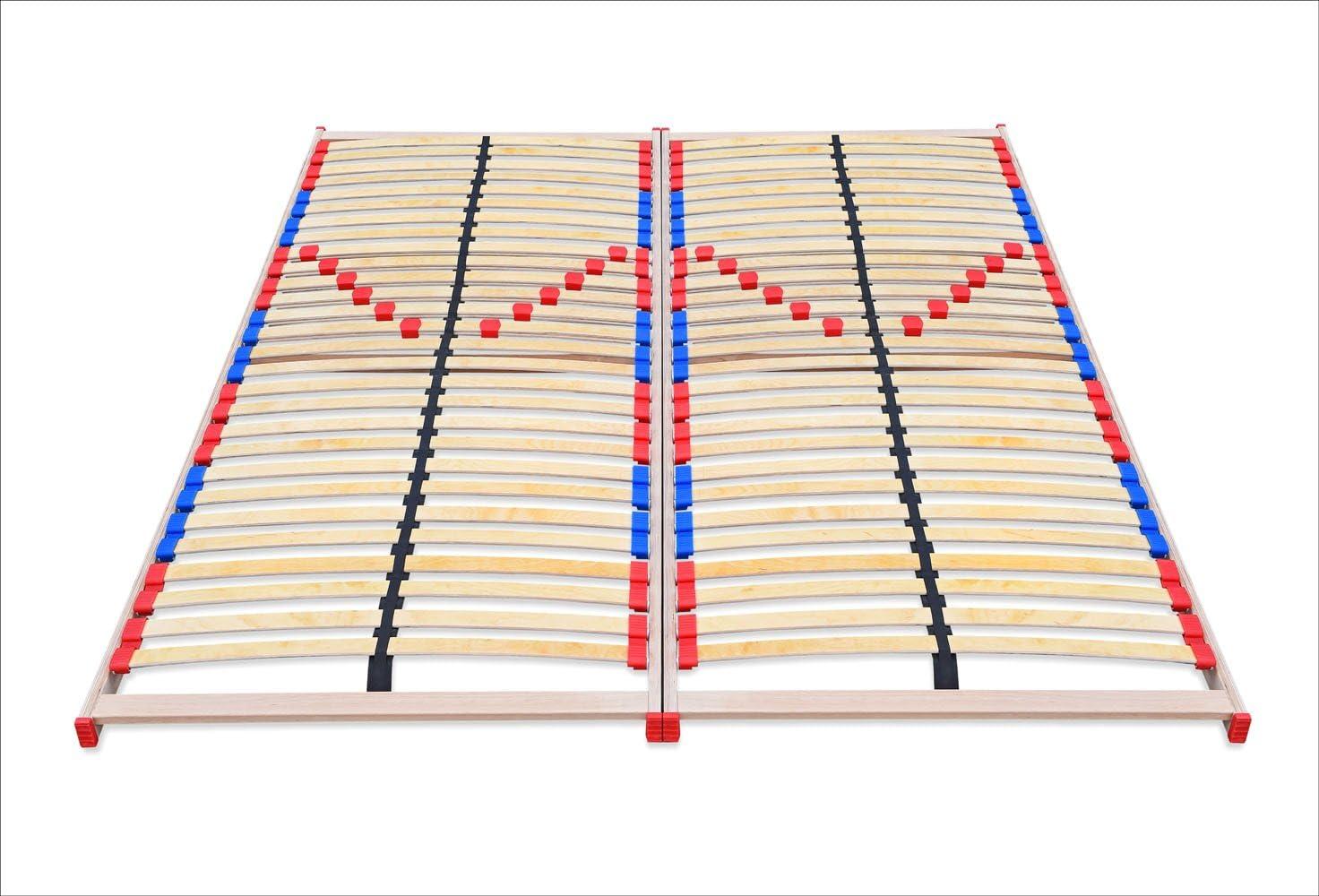ECOFORM - Somier de láminas con regulación de grado de dureza y tapas dobles móviles (140/160/180/200 x 200 cm, 160 x 200 cm)