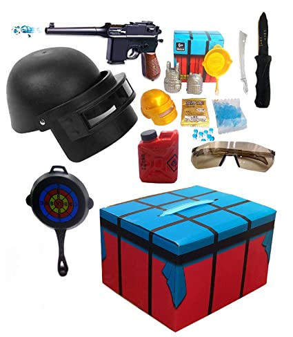HALO NATION PUBG Game Play Air Drop Box with 15 Pieces Accessories Set for  Kids