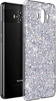 OKZone Funda Huawei Mate 10 Carcasa Purpurina, Cárcasa Brilla Glitter Brillante TPU Silicona Teléfono Smartphone Funda Móvil Case [Protección a Pantalla y Cámara] para Huawei Mate 10 (Plata): Amazon.es: Electrónica