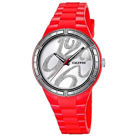 Calypso K5632/7 UK5632/7 - Reloj para Mujeres Color Rojo: Calypso: Amazon.es: Relojes