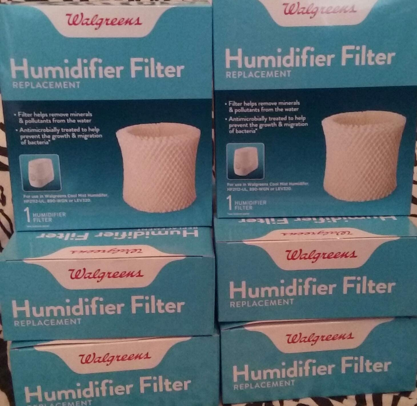 HQRP Wick Filter for Walgreens 890-WGN Cool Mist Humidifier W889-WGN Replacement