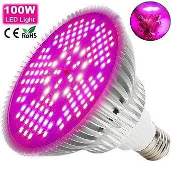 100W Lámpara LED Plantas Crecimiento Interior MILYN E26/E27 Espectro Completo LED Grow Light 150