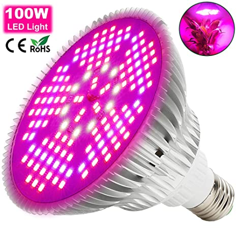 100W Lámpara LED Plantas Crecimiento Interior MILYN E26/E27 Espectro Completo LED Grow Light 150