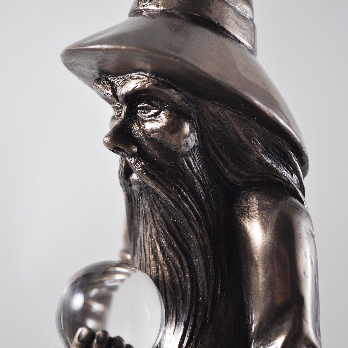 Large H49cm Design Clinic Bronze Wizard Figure