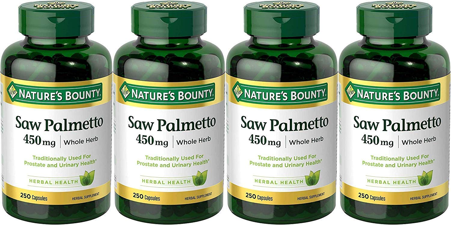 Nature s Bounty Saw Palmetto 450 mg Capsules 250 ea Pack of 4
