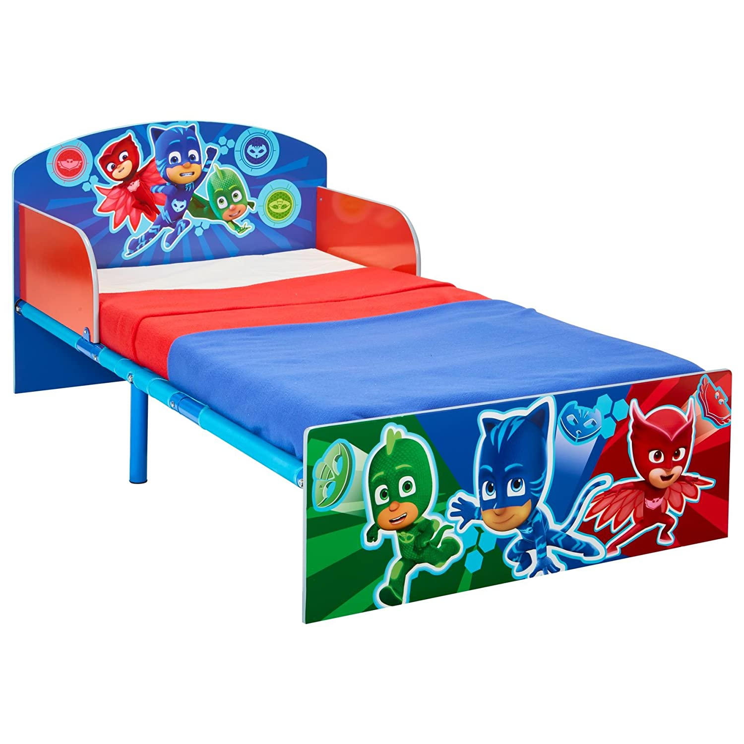 HelloHome Pj Masks Kids Toddler Bed, Wood, Blue Worlds Apart 505PJM