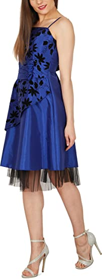 BlackButterfly Sia Essence Satin Floral Party Prom Dress: Amazon.co.uk: Clothing