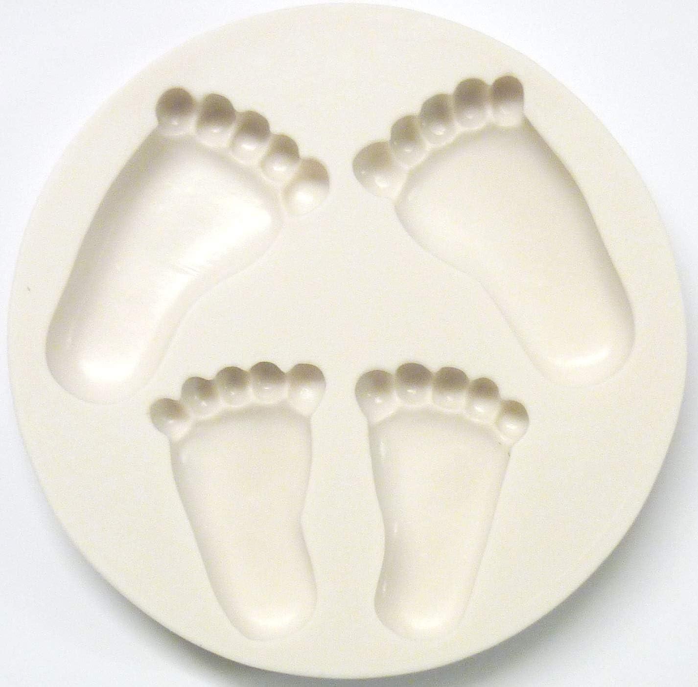 d/écoration de g/âteau b/éb/é endormi Zeagro Moule /à g/âteau en Silicone 3D Pieds de b/éb/é Outil de p/âtisserie