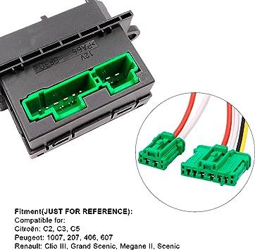 YAOPEI 6441.L2 - Resistencia del Ventilador del Motor del Soplador Cableado Arnés Conector: Amazon.es: Coche y moto