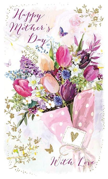 Día de la madre tarjeta - enviado con amor - 10.1 x 7.1 ...