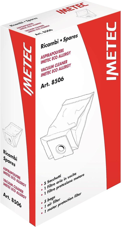 Imetec 8506 Kit Sacchetti e Filtro, per Aspirapolvere Eco Allergy