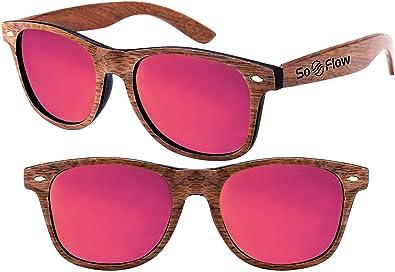 6582ac5006 SoFlow Red Walnut Polarized Wood Sunglasses Men Women - Wooden - Mirror Mirrored  Lens - Prime