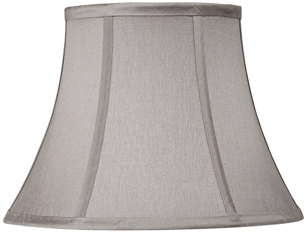 Pewter Gray Bell Lamp Shade 7x12x9 (Spider)