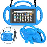 """MENZO Kids Case for All-New Fire HD 8 2018/2017 - Shockproof Convertible Handle Light Weight Protective Stand Cover Kids Case for Fire HD 8"""" (2017 and 2018 Releases) Tablet, Blue"""