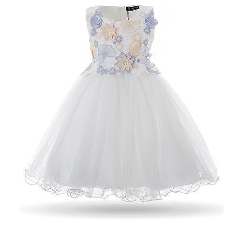 Cielarko Girls Dress Butterfly Flower Embroidery Formal Wedding Party Dresses