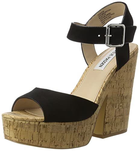 22f134010942 Steve Madden Women s Leighton Open Toe Sandals  Amazon.co.uk  Shoes ...