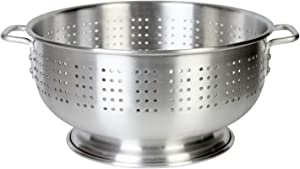 Thunder Group Aluminum Colander with Handle, 16-Quart