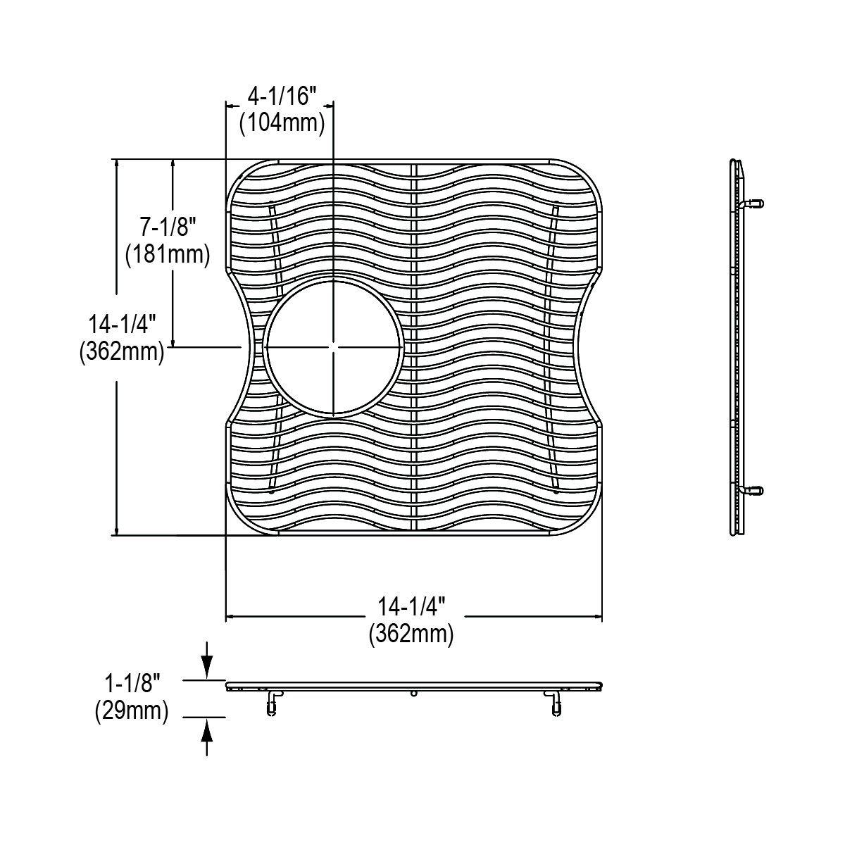 Elkay LKWOBG1716SS Stainless Steel Bottom Grid by Elkay (Image #1)