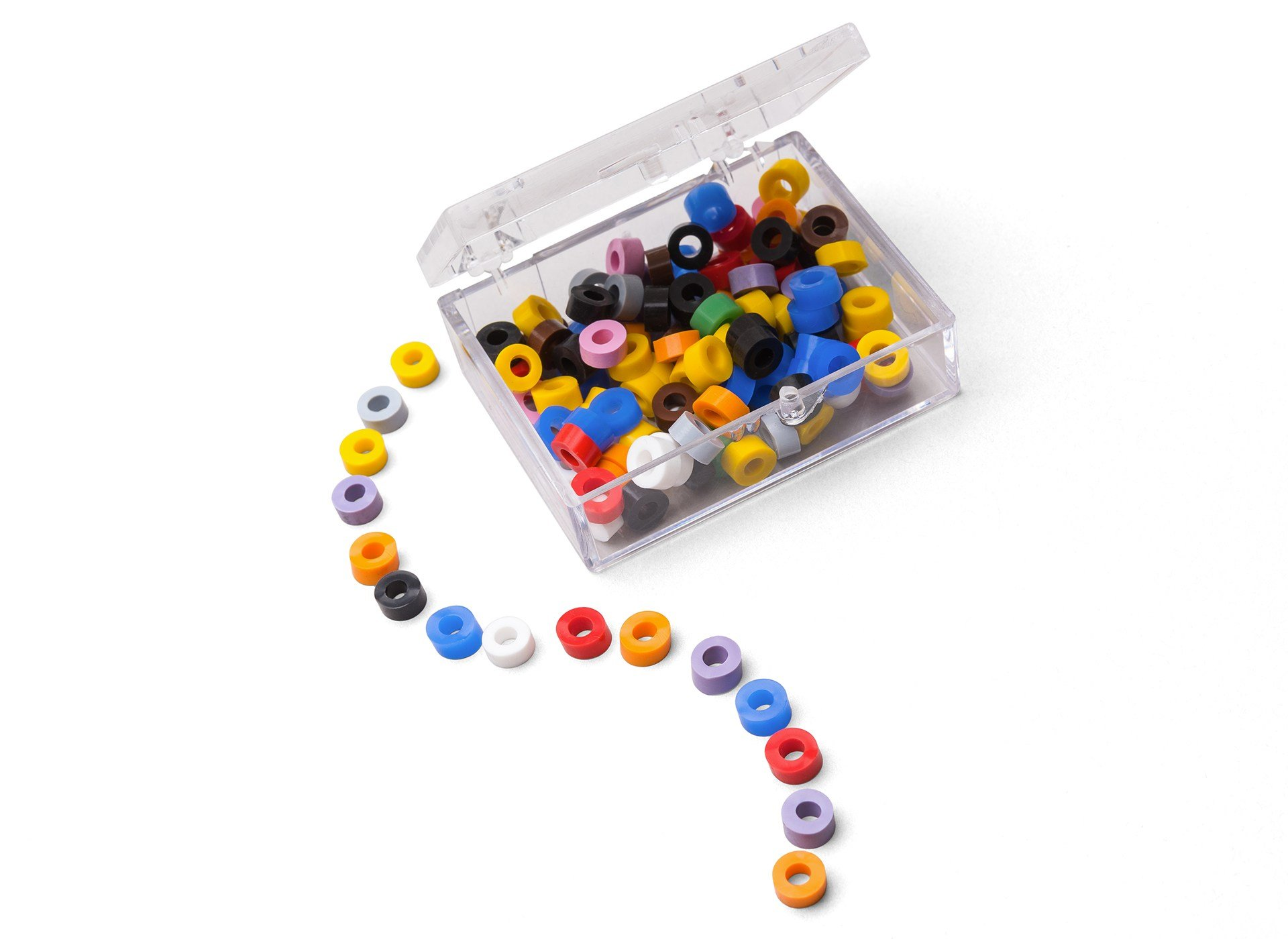 Pulpdent Corporation CR-AS Code Rings Silicone Standard 100/Pk Assorted