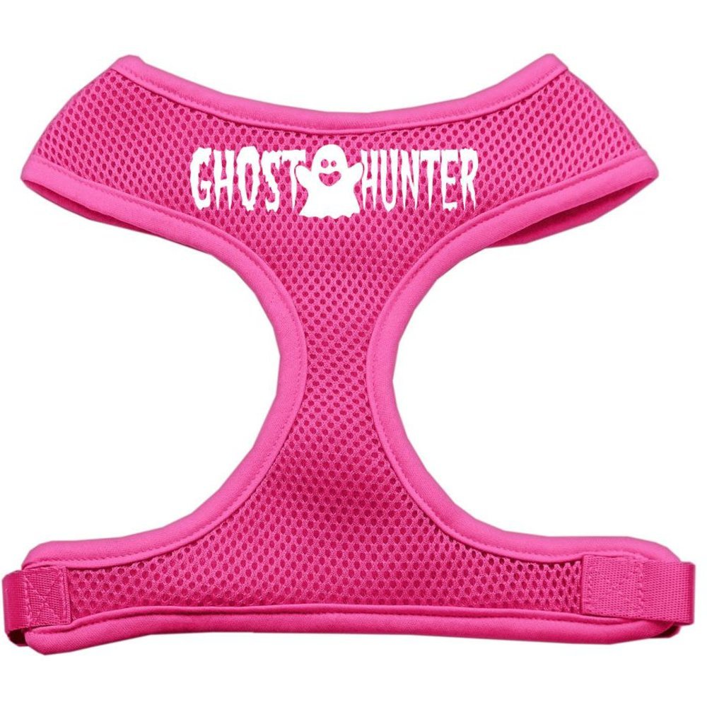 Mirage Pet Products Ghost Hunter Design Soft Mesh Dog Harnesses, Small, Pink