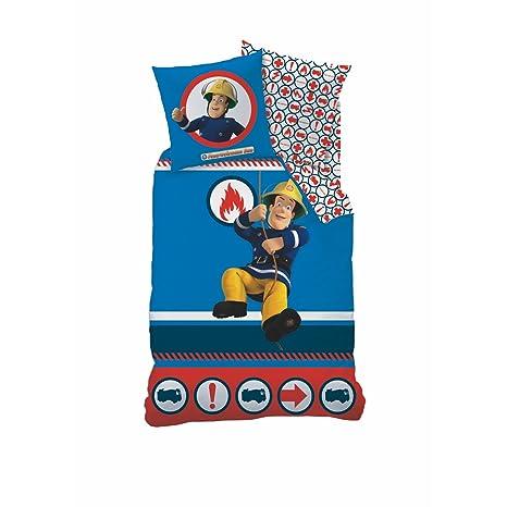BERONAGE Ropa de cama de franela bombero Sam nuevo ...