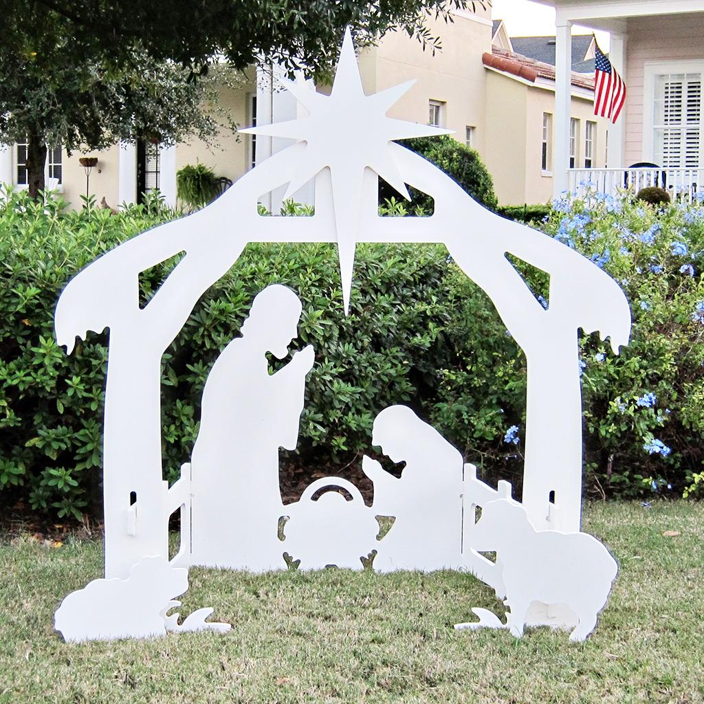 Wooden outdoor christmas decorations - Outdoor Nativity Set