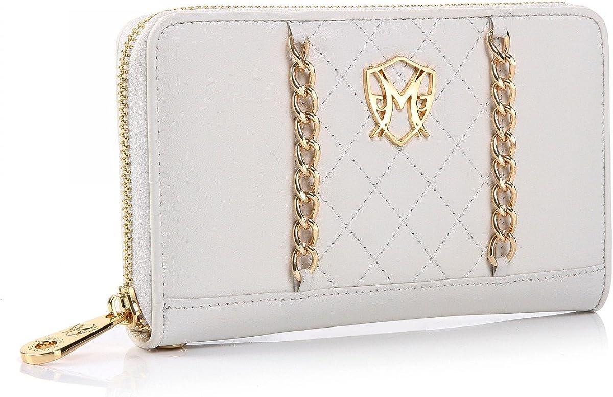 handbag Jessica Nappa Signature White Chain Wallet Clutch by Greg Michaels