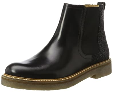 Kickers Oxfordchic, Bottines Chelsea Femme, Noir (Noir Graine), 36 EU