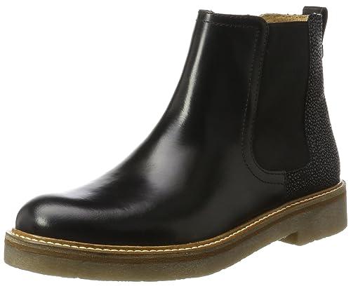 2a98b218b2d0d Kickers Women s Oxfordchic Chelsea Boots Black Size  3 UK  Amazon.co ...