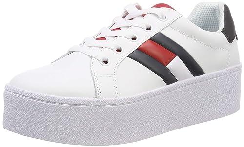super popular ad864 14d28 Hilfiger Denim Tommy Jeans Icon Sneaker, Scarpe da Ginnastica Basse Donna