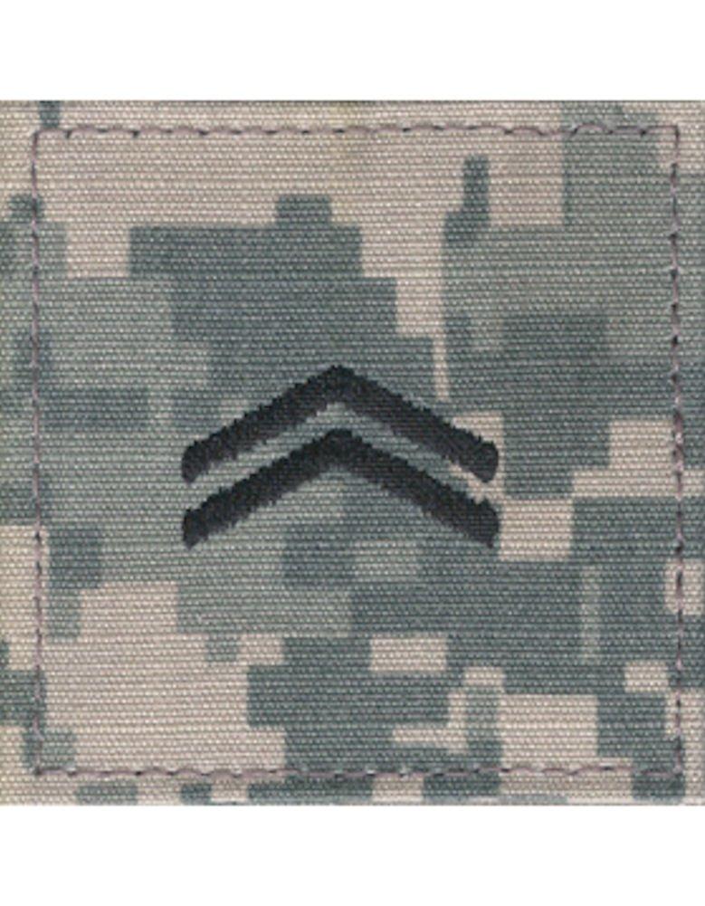 Army ROTC Rank with HOOK Fastener - ACU DIGITAL (Cadet - Corporal)