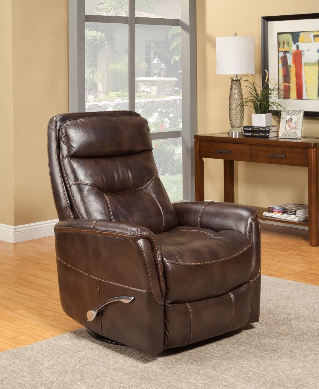 Oliver Pierce Colby Swivel Glider Recliner, Brown